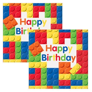 Happy Birthday Lego Lautasliinat 16kpl  Unique