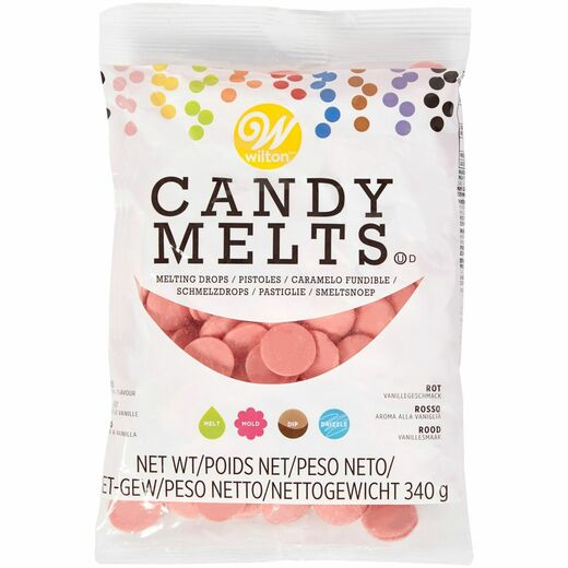 Candy Melts - vaaleanpunainen 340g. Wilton